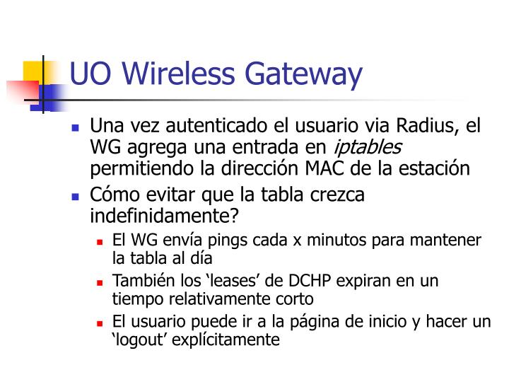 UO Wireless Gateway