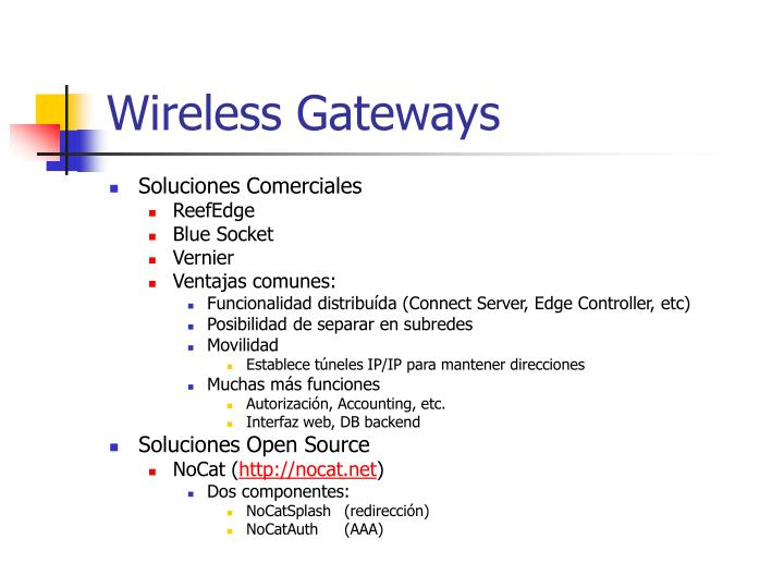Wireless Gateways