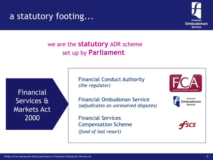 A statutory footing