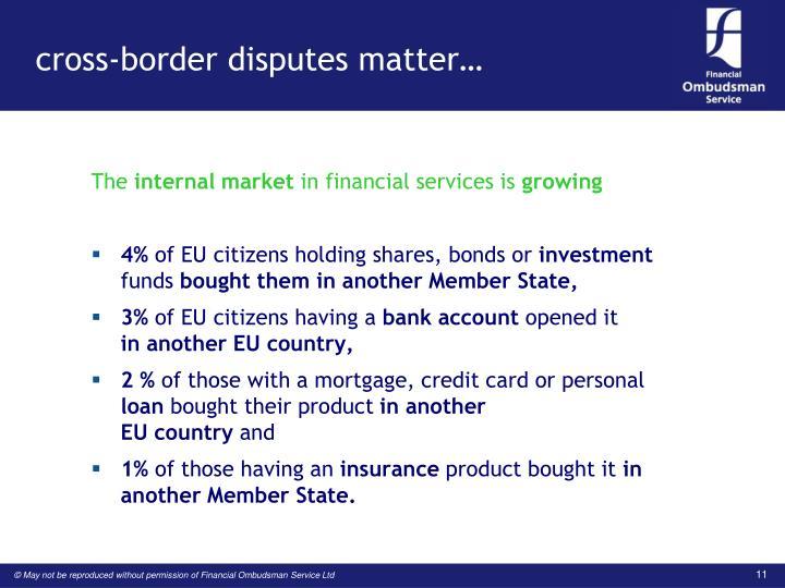 cross-border disputes matter…