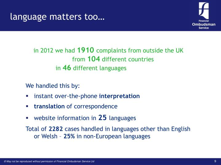 language matters too…