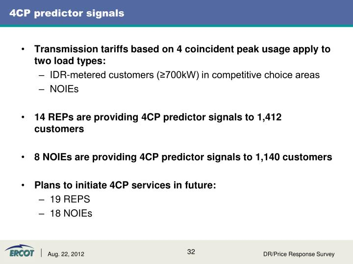 4CP predictor signals