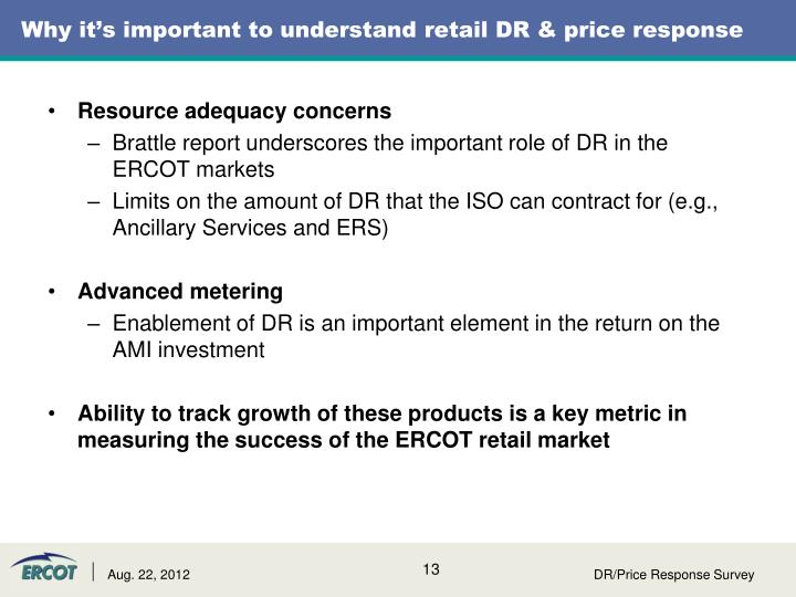 Why it's important to understand retail DR & price response