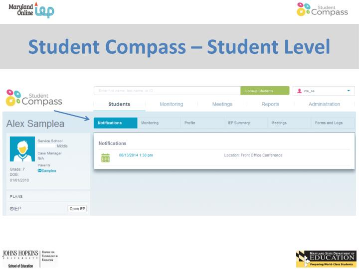 Student Compass – Student Level