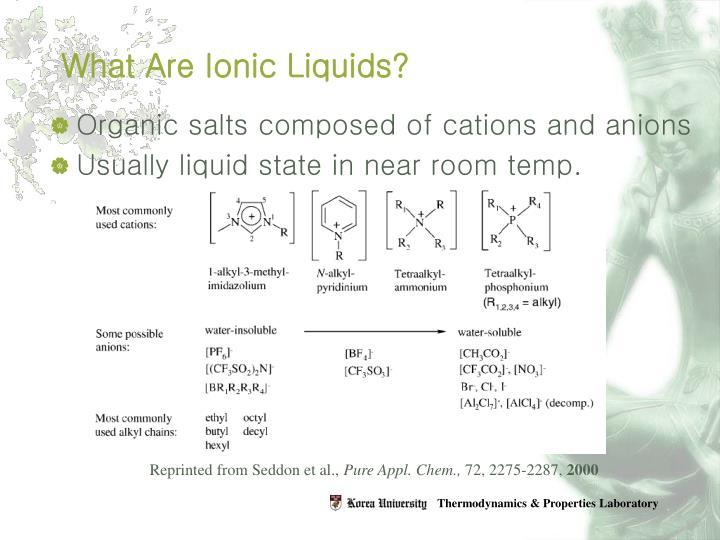 What Are Ionic Liquids?