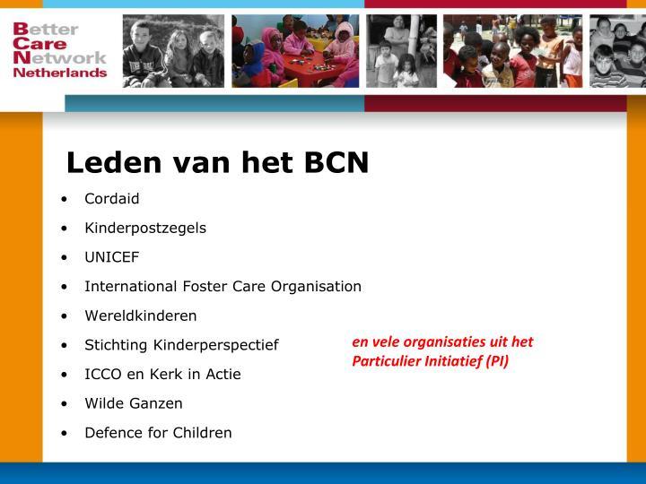 Leden van het BCN