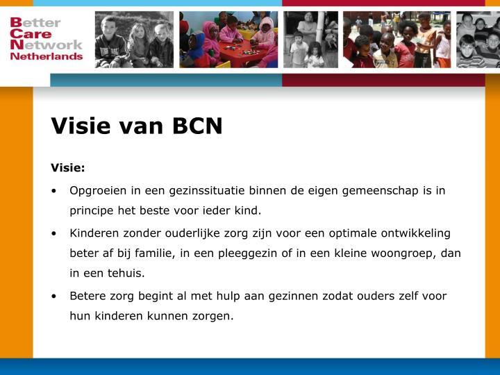 Visie van BCN