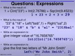 questions expressions