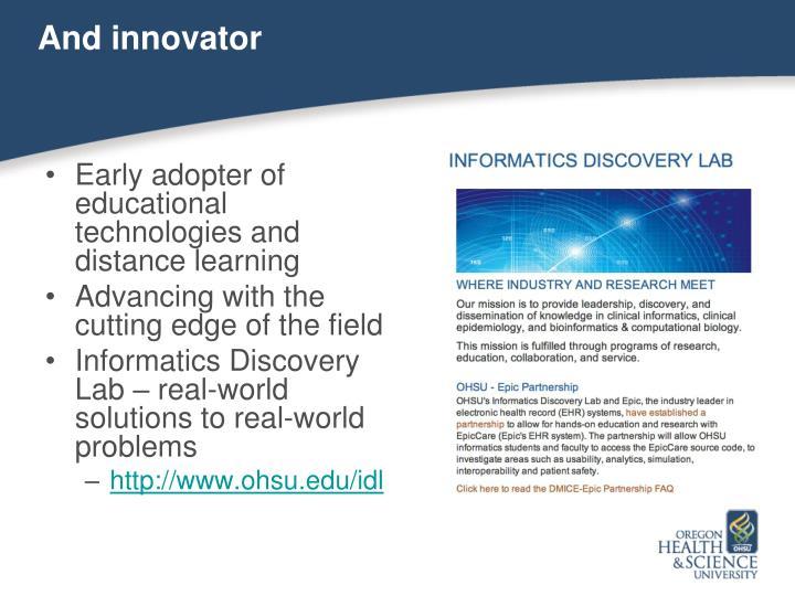 And innovator
