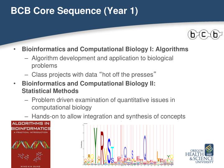 BCB Core Sequence (Year 1)