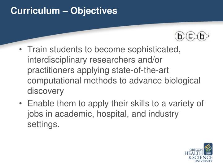 Curriculum – Objectives