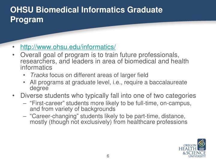 OHSU Biomedical Informatics Graduate