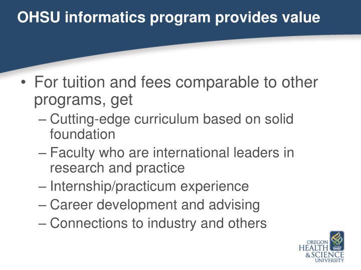 OHSU informatics program provides value