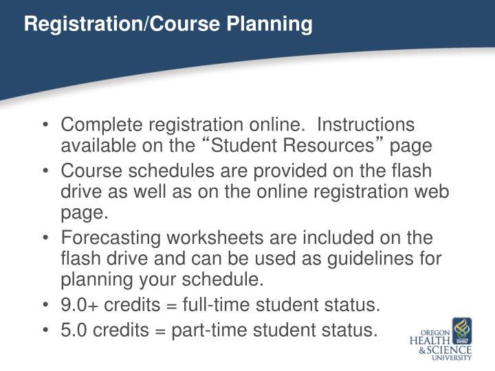 Registration/Course Planning