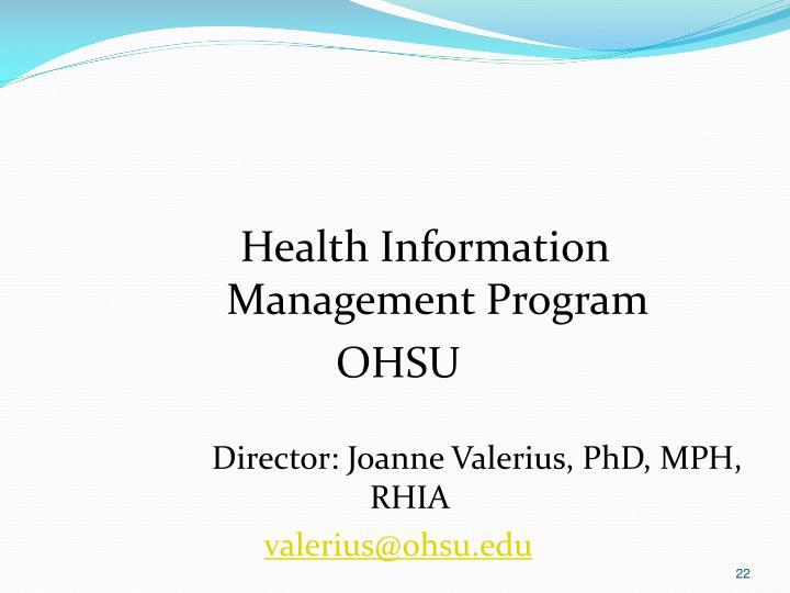 Health Information Management Program