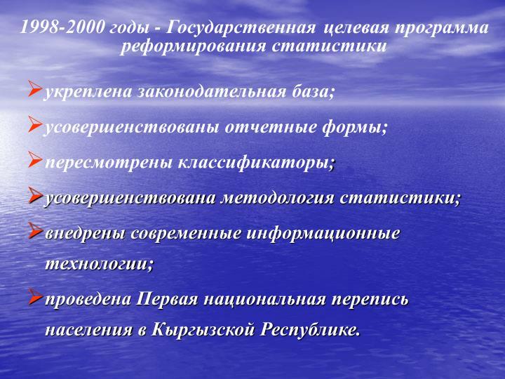 1998-2000 годы