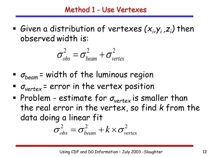 Method 1 - Use Vertexes
