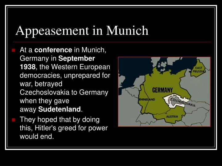 Appeasement in Munich