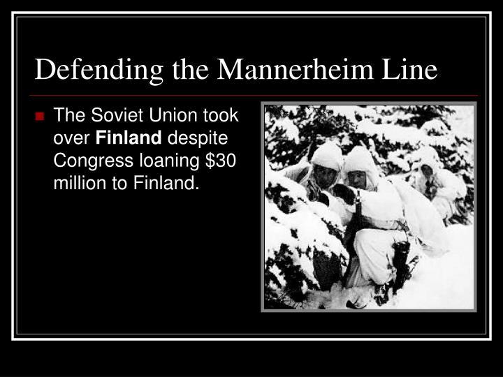 Defending the Mannerheim Line