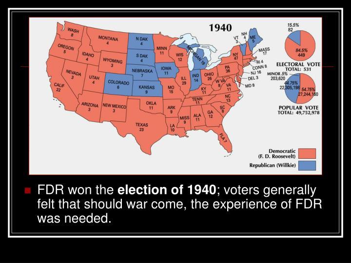 FDR won the