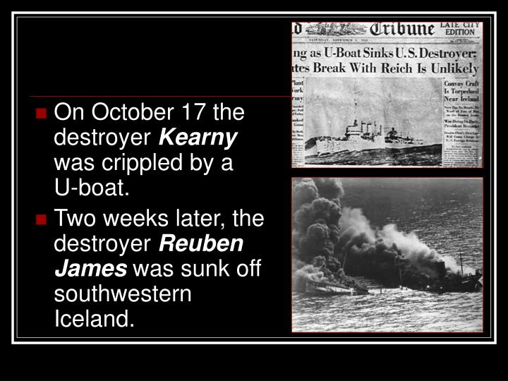 On October 17 the destroyer