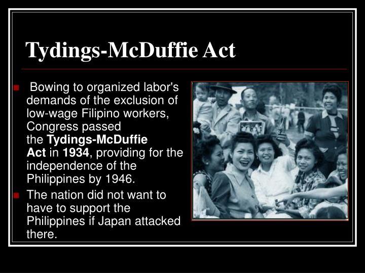 Tydings-McDuffie Act