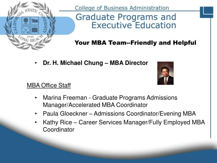 MBA Office Staff