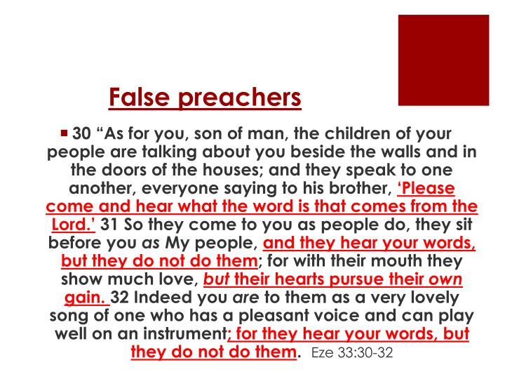 False preachers