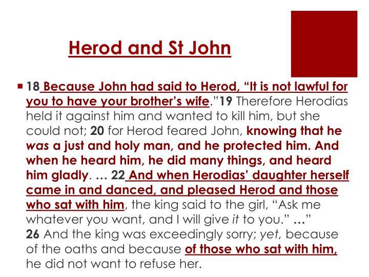Herod and St John