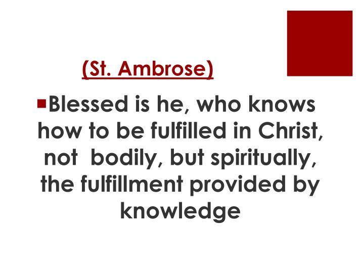 (St. Ambrose