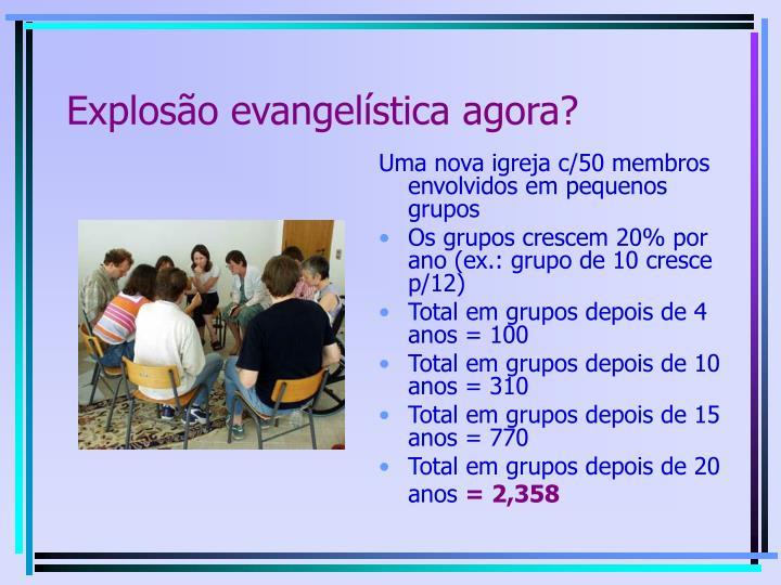 Explosão evangelística agora?