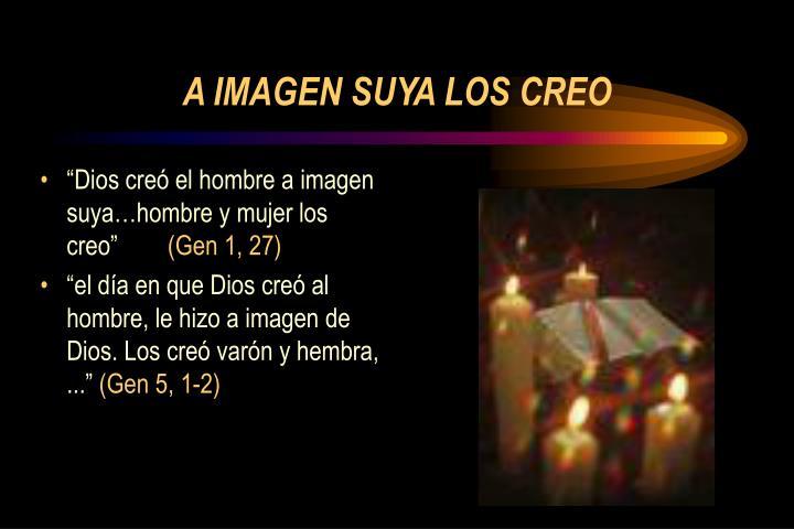 A IMAGEN SUYA LOS CREO