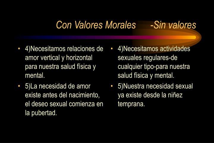 4)Necesitamos relaciones de amor vertical y horizontal para nuestra salud física y mental.