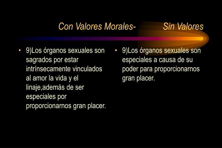 9)Los órganos sexuales son sagrados por estar intrínsecamente vinculados al amor la vida y el linaje,además de ser especiales por proporcionarnos gran placer.
