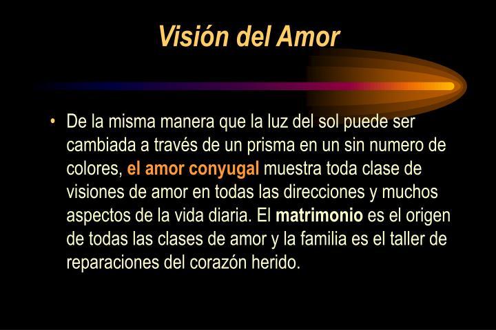 Visión del Amor
