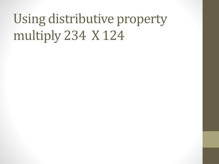 Using distributive property