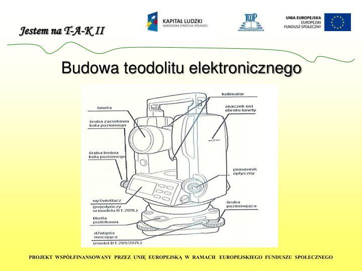 Budowa teodolitu elektronicznego