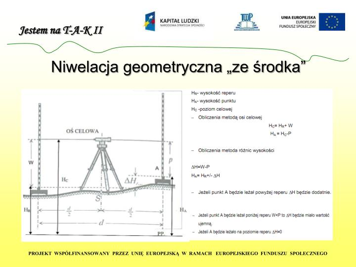 """Niwelacja geometryczna """"ze środka"""""""