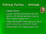 political parties attitude