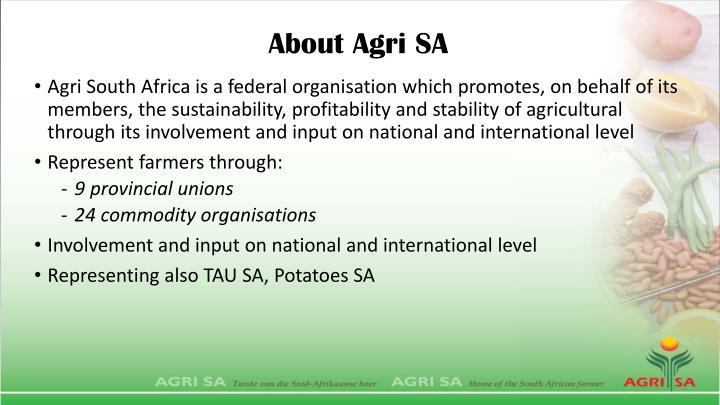 About Agri SA