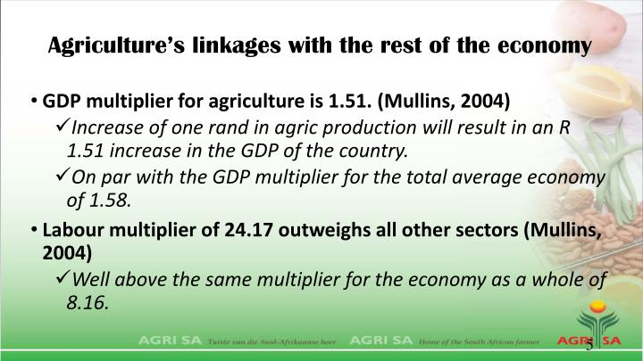 Agriculture's linkages with the rest of the economy