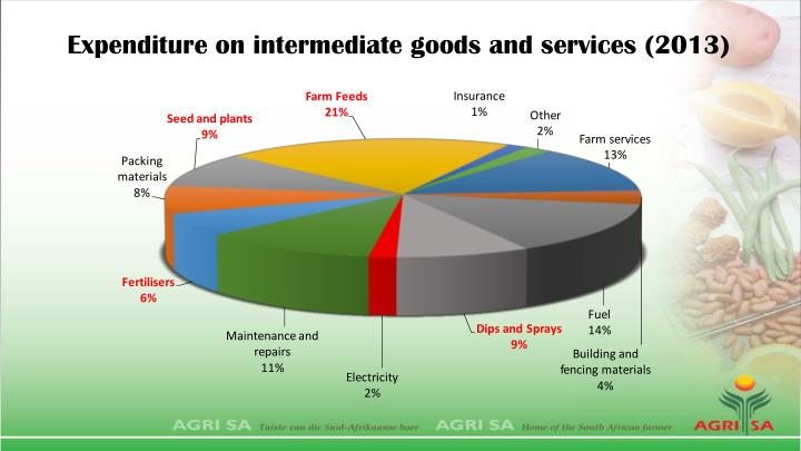 Expenditure on intermediate goods and services (2013)