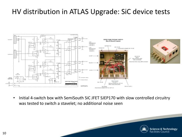 HV distribution in ATLAS Upgrade: SiC device tests