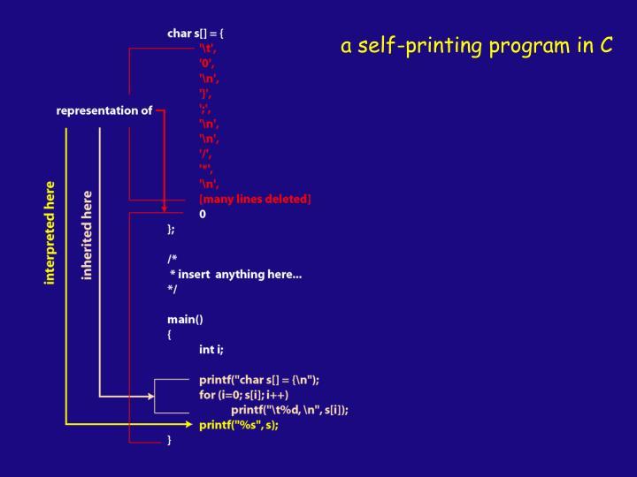 a self-printing program in C