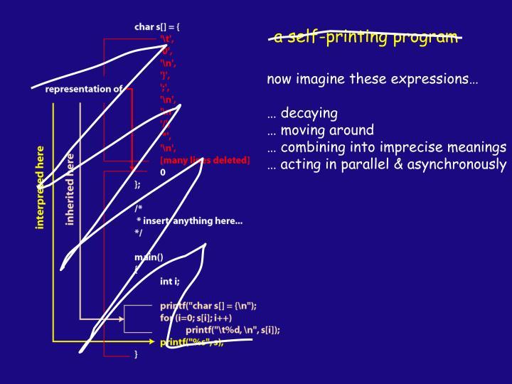 a self-printing program