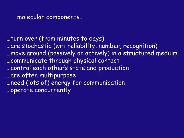 molecular components…