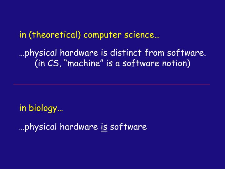 in (theoretical) computer science…