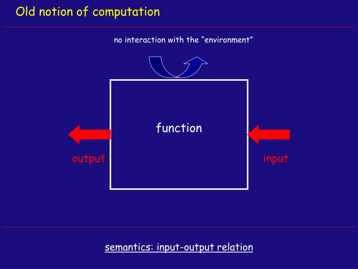 Old notion of computation