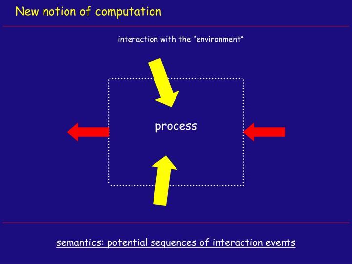 New notion of computation