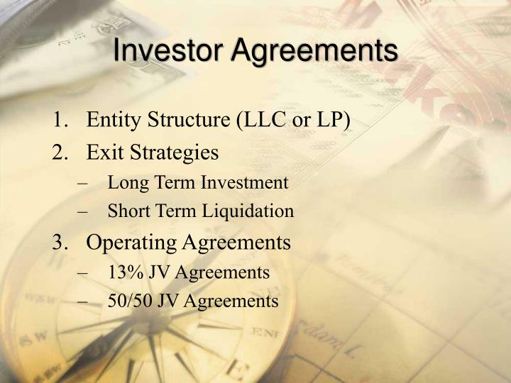 Investor Agreements